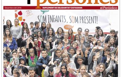 Els nens i nenes de l'Esplai Can Serra, per la millora del barri